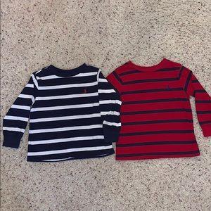 Ralph Lauren boys 2T bundle! 2 long sleeve shirts